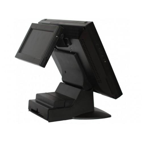"""LCD 8 """" Heng Yu DP871A, с клавиатурой PS/2, MSR PS/2 (1+2+3), черный / VESA-крепление, со сканером ШК"""
