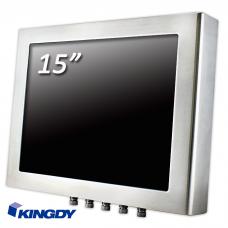 """POS-компьютер  KINGDY, защищенный стальной корпус / 15"""" сенсорный, IP65, процессор D-J1900, резистивный, 3хUSB, 2хRS232, GLAN, WP150R005S"""