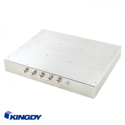 """KINGDY, защищенный стальной корпус / 15"""" сенсорный, IP65, процессор D-J1900, резистивный, 3хUSB, 2хRS232, GLAN, WP150R005S"""
