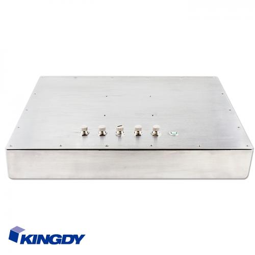 """KINGDY, защищенный стальной корпус / 17"""" сенсорный, IP65, процессор D-J1900, резистивный, 3хUSB, 2хRS232, GLAN, WP170R005S"""