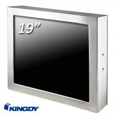 """POS-компьютер  KINGDY, защищенный стальной корпус / 19"""" сенсорный, IP65, процессор D-J1900, резистивный, 3хUSB, 2хRS232, GLAN, WP190R005S"""