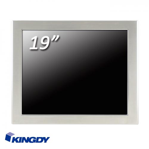 """KINGDY, защищенный стальной корпус / 19"""" сенсорный, IP65, процессор D-J1900, резистивный, 3хUSB, 2хRS232, GLAN, WP190R005S"""