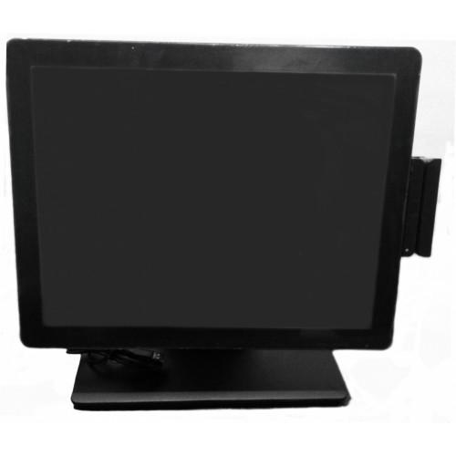 """LED 15"""" OL-1504T, сенсорный, безрамочный, черный / USB, с усиленной подставкой, MSR (1+2+3) USB"""