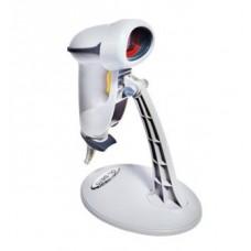 Сканер штрих-кода OL-S670, с подставкой, кнопка+авто / COM (без БП), белый