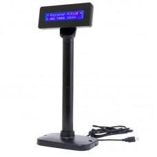 Дисплей покупателя Poscenter PCP220 (бело-голубой ЖКИ), подставка, USB кабель 3.0 м., черный
