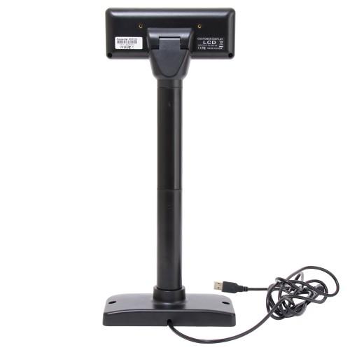 Poscenter PCP220 (бело-голубой ЖКИ), подставка, USB кабель 3.0 м., черный
