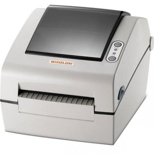 """Bixolon SLP-DX423DE (термопечать;300dpi; 4"""";152мм/сек;64MB SDRAM, 128MB Flash;Ethernet;USB,RS232)отделитель, белый"""