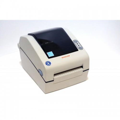 """Bixolon SLP-D423DE (термопечать;300dpi; 4"""";100мм/сек;4MB/8MB;Ethernet;USB,RS232)отделитель, белый"""