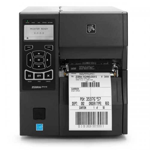 "Zebra ZT410, ТТ, 4"" / 203 dpi, COM/USB/Ethernet/USB-host, Bluetooth, отделитель + смотчик этикеток, ZT41042-T4E0000Z"