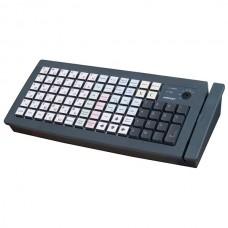 Программируемая клавиатура  Posiflex KB-6600 / черный, PS/2, со считывателем карт (1, 2, 3 дорожка)