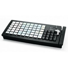 Программируемая клавиатура  KB-PION306 (79 клавиш; PS/2; MSR123; ключ) черная, арт. PP30678_L_MSR123_PS/2_B
