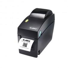 """Принтер этикеток Godex DT-2х, термопринтер штрихкодовых этикеток, 203 dpi, ширина 2"""", и/ф USB+RS232+Ethernet (скорость печати 7 ips)"""