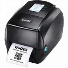 """Godex RT863i, термо/термотрансферный принтер, 600 dpi, 3 ips, ширина 4.16"""", ЖК дисплей, (дюймовая втулка риббона), и/ф USB+RS232+Ethernet+USB Host"""