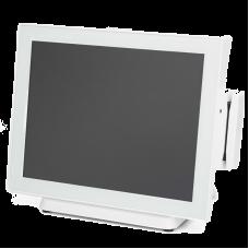 """POS-моноблок Datavan EL-POS EL-615S Intel Celeron J1900 2.0/2.4 GHz, 15"""" PCAP, DDR3 4G, SSD 64 GB, белый, ридер MSR, Win10"""