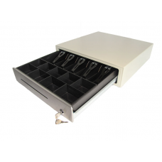"""Денежный ящик HPC 16S 417x417x100 распайка для """"ШТРИХ-М"""", белый"""