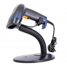 Сканер штрих-кода POScenter HH 1D, ручной, лазерный, USB, черный, с кабелем, подставка